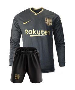 لباس آستین بلند دوم بارسلونا 2021-پیراهن و شورت
