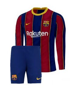 لباس آستین بلند اول بارسلونا 2021-پیراهن و شورت
